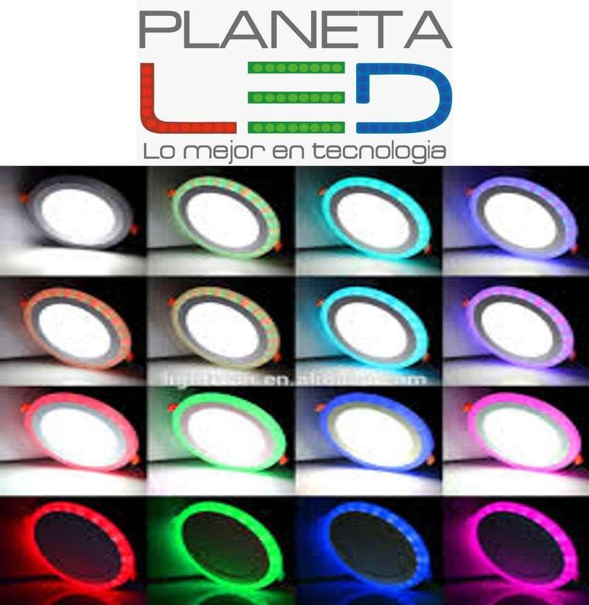 Panel Lampara Led Bicolor Gypsum-losa Sobrepue 3w 6w 12w 18w