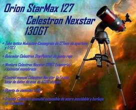 Telescopio Orion Starmax 127/ Celestron Nexstar 130gt C/trípode