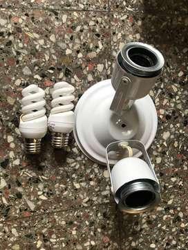 Aplique 2 luces nuevo con focos