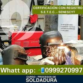 CURSO Y CERTIFICACION PARA SOLDADORES