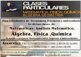 Estudiante de ingeniería ofrece cursos de matemáticas, química y física para estudiantes de primario o secundario, unive