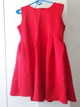 Vestido rojo fiesta talle s importado sin uso