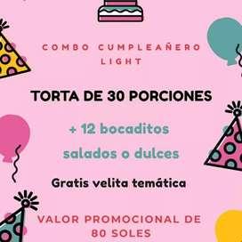 Combos cumpleañeros (torta+bocaditos)