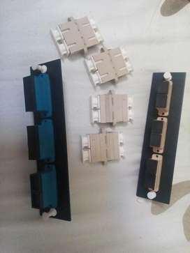 conectores o acopladores sc /sc fibra optica duples