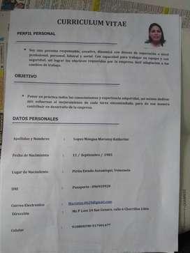 Busco empleo