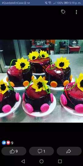 Se ofrece pastelero panadero amplia experiencia en todo el área de pastelería, panadería. Postres, viscochos hojaldres,