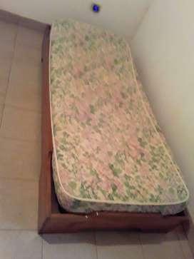 Cama 1 plaza con colchón