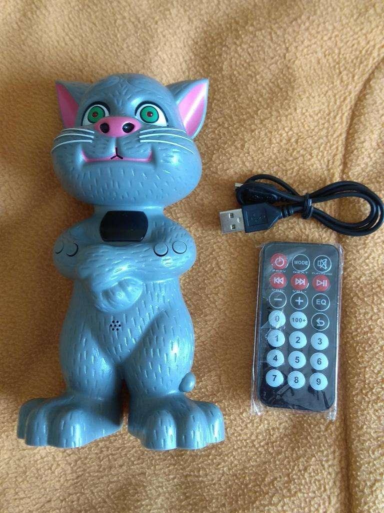 Parlante bluetooth MP3 gato Tom cat USB a batería y control remoto 0