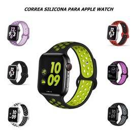 Correa Silicona SPORT Para Apple Watch 44 / 42 / 40 / 38mm - Colores