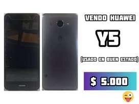 Vendo Huawei color negro más cargador