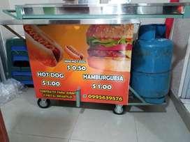 Señorita para ventas ambulantes comidas rapidas