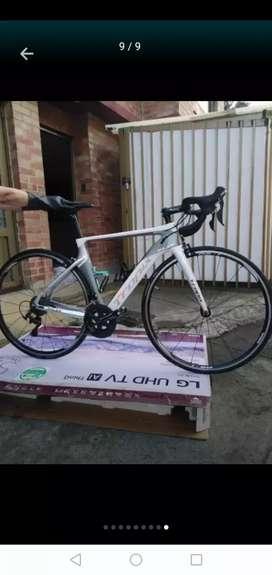 Bicicleta de ruta en carbono