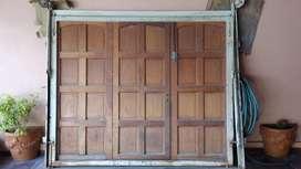 Portón Para Garage Madera Levadizo