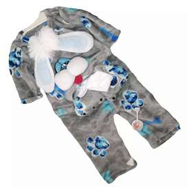 Pijama osito para bebe con gorrito 4 productos (0-3 meses)