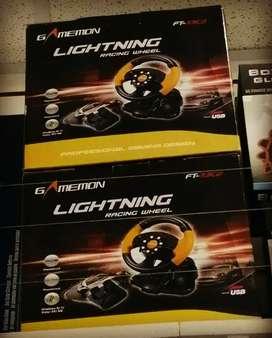 Timon Gamemon PS2 PS3 PC Lightning Racing Wheel  Nuevo Sellado