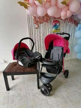 Coche + silla de carro