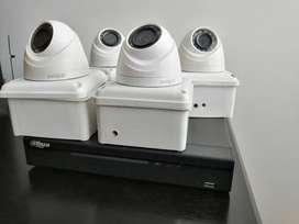 8 Cámaras de seguridad con DVR marca DAHUA