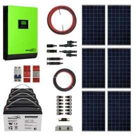 Kit Solar Hibrido Policristalino 4Kw 8Kwh x Día