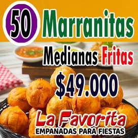 50 MARRANITAS MEDIANAS FRITAS