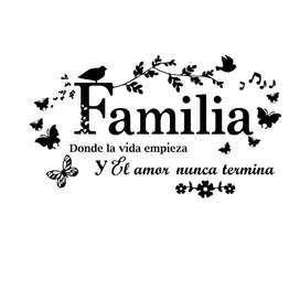 Adhesivo Decorativo Familia Con Frases Para El Hogar