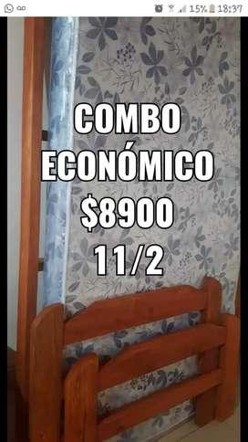 Combo ECONÓMICO plaza y media