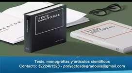 Corrección de tesis y monografías