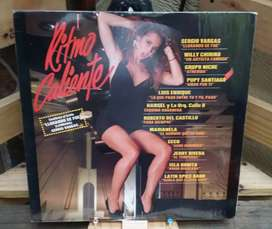 Long Play Lps Disco Acetato Pasta Vinyl Ritmo Caliente 1990 Variado Salsa Meregue