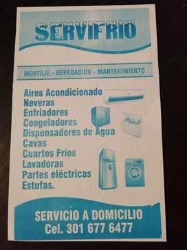 Reparaciones técnicas en neveras lavadoras aires acondicionado