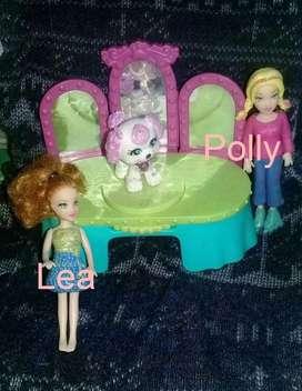 Lea con Sparklin Pets Pirouette  Polly Pocket