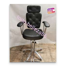 Silla neumática y reclinable con cabezero gradúable