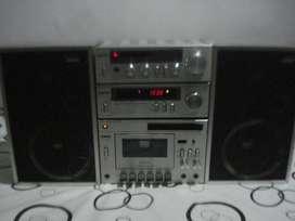 Microcomponete Aiko 3000 C/parlantes Exc Calidad De Sonido
