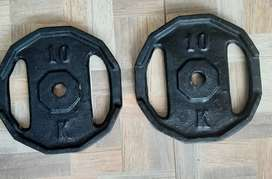 Par de  Discos de 10 kilos