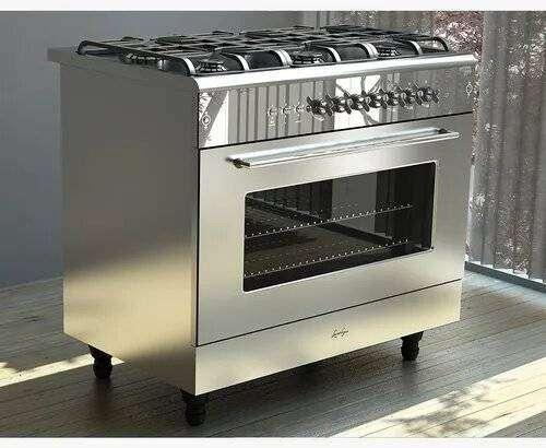 Usada   EXCELENTE ESTADO   Con Doble Convector   Cocina Luxor Gas Garden Steel 900 6 Hornallas 0