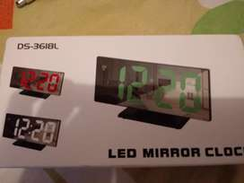 Reloj led mirror clock