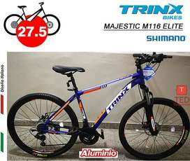 Bicicleta TRINX MAJESTIC M116 ELITE ARO275 azul - Shimano