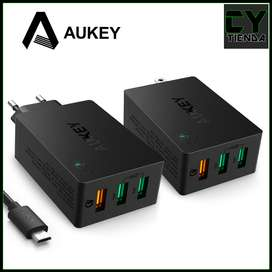 Cargadorde pared Aukey Qualcomm Quick Charge 3.0 carga rápida PA-T14