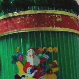 manualidades de navidad realizados a mano : porta dulce cuadritos de navidad y escobita navideña con material sencillo