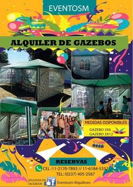 ALQUILER DE  GAZEBOS ZONA OESTE