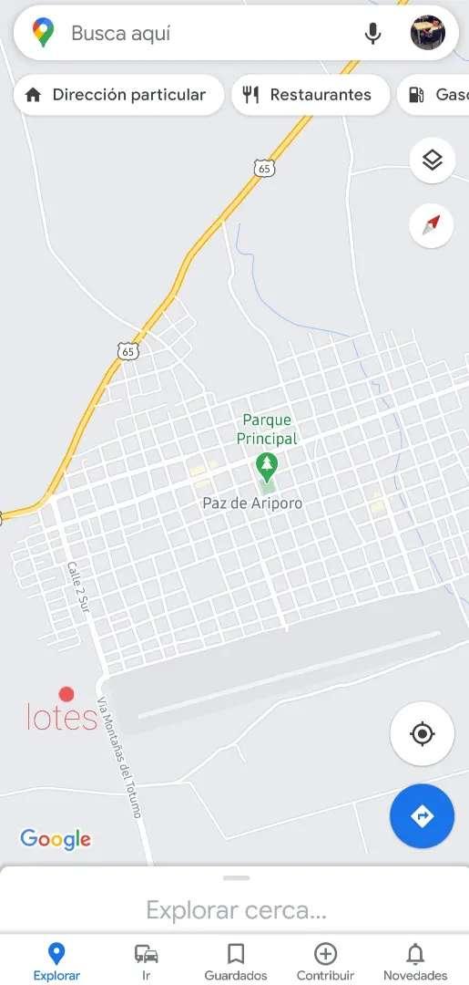 VENTA DE LOTES URBANOS PAZ DE ARIPORO
