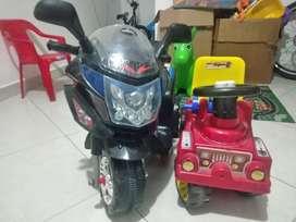 Moto eléctrica y carrito montable