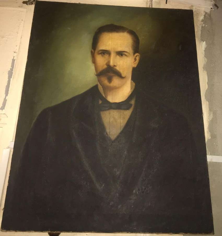 Cuadro al óleo sobre lienzo. Autor atribuído: E. Diron en Guayaquil 1882 0