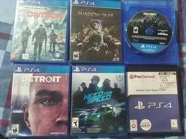 Remató 6 juegos PS4 play 4 baratos o cambio