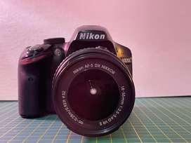 Camara nikon D3200 + lente 18-55mm f3.5-5.6 + lente 50mm f1,8 incluye tripode, cargador y bateria originales
