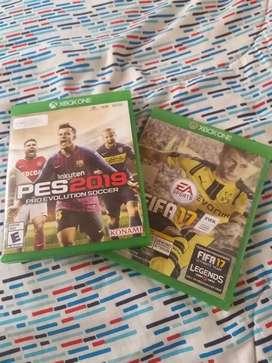 FIFA 17 y PES 2019