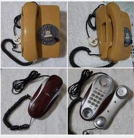 TELEFONO ANTIGUO DE DISCO Y TELEFONO DIGITAL