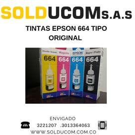tintas para impresora Epson genéricas 40 los 4 colores