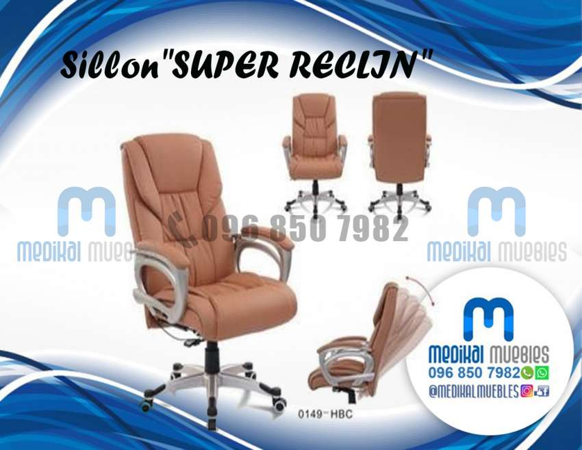 SILLON SUPER RECLIN, GIRATORIO, SILLÓN ERGONOMICO, SILLON RECLINABLE 0
