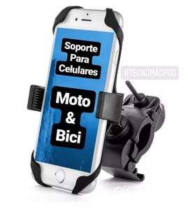 Soporte deportivo para celular, moto o bici