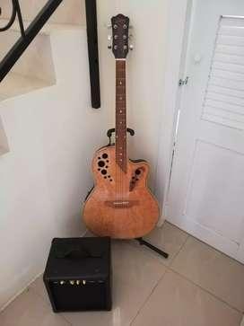 Venta de guitarra electroacustica con alplificador