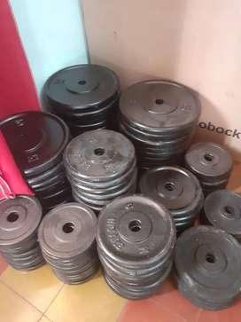 Discos de Fundicion 30mm. 3kg 5kg y 10kg